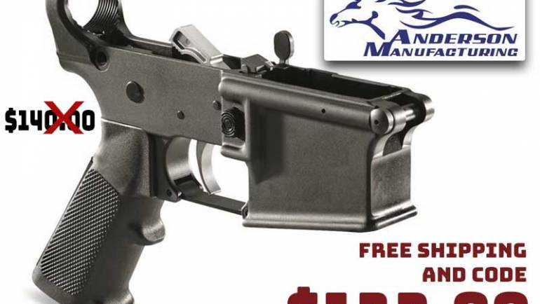 Anderson AR-15 Lower Receiver with Parts Kit Installed $132.99 FREE S&H