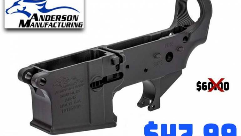 Anderson Mfg AR-15 Stripped Lower Receivers $47.99 Each