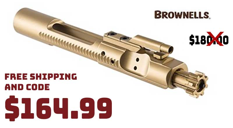 Brownells AR15/M16 5.56 Bolt Carrier Group TiN MP $164.99 FREE S&H