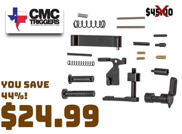 CMC Triggers AR-15 Lower Assembly Kit, No Fire Control Group or Grip $24.99
