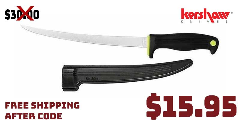 Kershaw Clearwater 9″ Fillet Fishing Knife 47% OFF now $15.95 FREE CODE