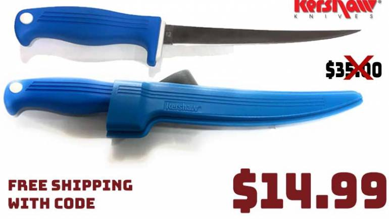 Kershaw Clearwater 7'' Fillet Knife 57% OFF now $14.99 FREE S&H CODE