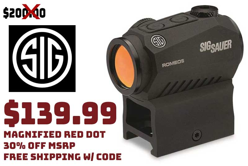 Magnified Sig Sauer SOR52001 Romeo5 1X20mm Compact Red Dot $139.99 FREE S&H