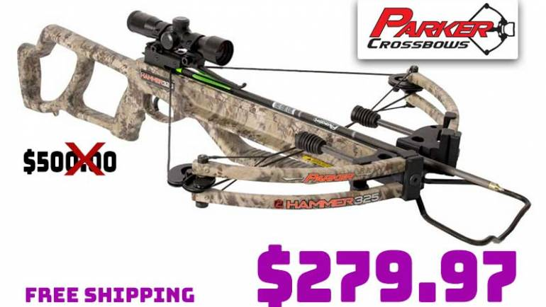 Parker Hammer 325 Crossbow Package w/Multi Reticle Scope…just $279.97 FREE S&H