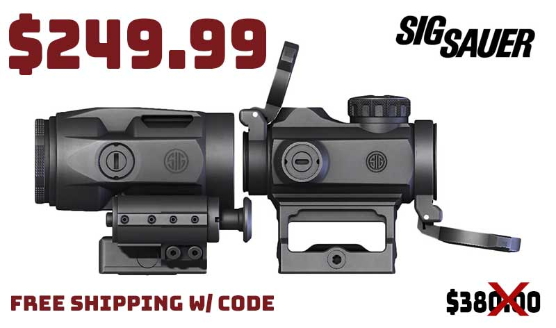 Sig Sauer ROMEO-MSR Compact Red Dot Micro Magnifier Combo Kit $249.99 FREE S&H