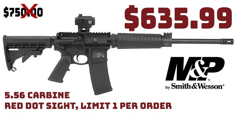 Smith & Wesson M&P 15 SPORT II 5.56 Carbine Red Dot Sight $635.99
