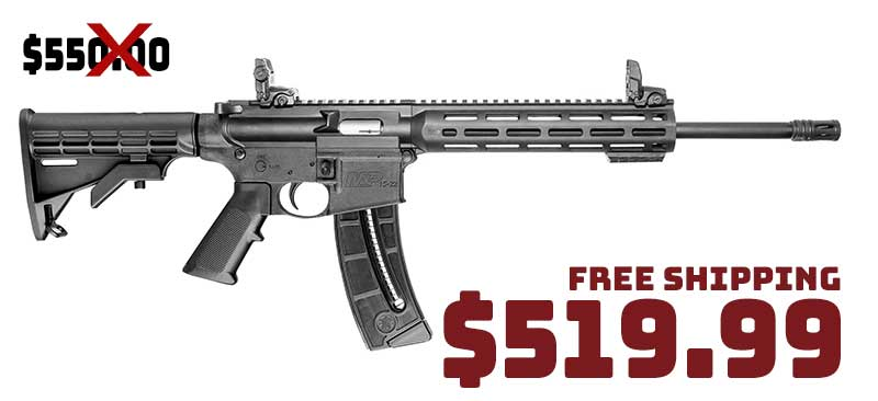 Smith & Wesson M&P 15-22 SportRifle .22LR Magpul MBUS sights $519.99