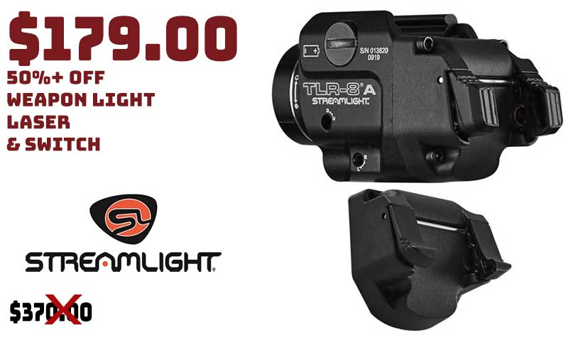 Streamlight TLR-8A Weapon Light, Laser & Switch Combo 50% OFF $179.00