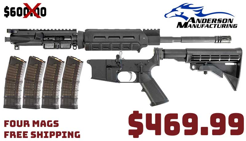 Anderson AM15 5.56 16″ MOE M-Lok + 4 Lancer Mags Combo $469.99 FREE S&H