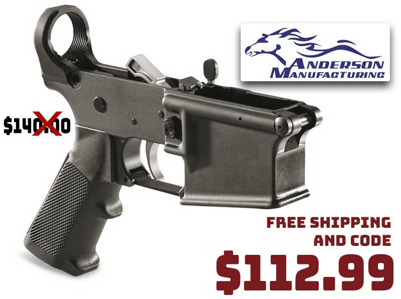 Anderson AR-15 Lower Receiver with Parts Kit Installed $112.99 FREE S&H