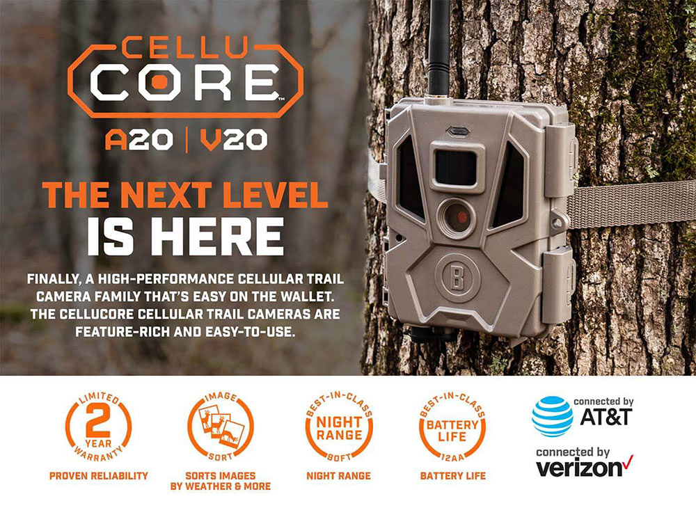 2021 Bushnell CelluCORE 20 / CORE S-4K Trail Cameras Now Available