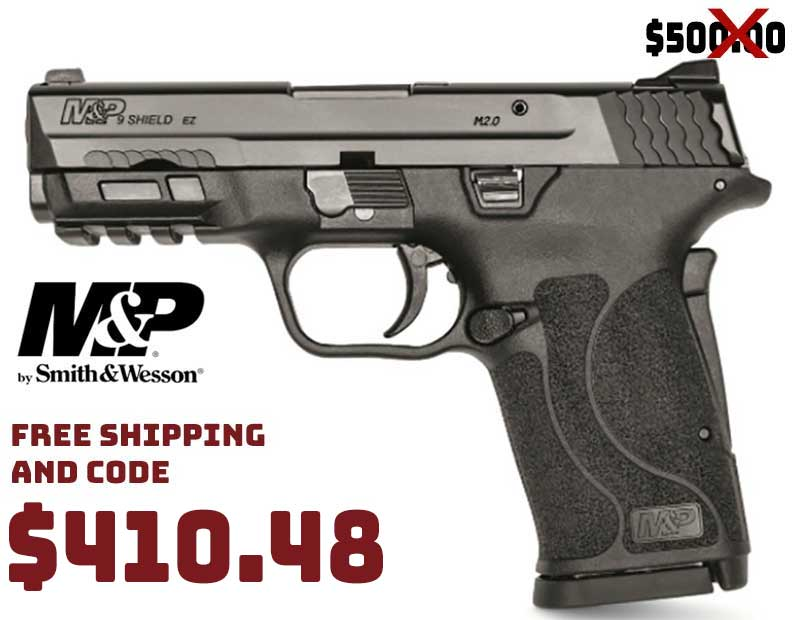 Smith & Wesson M&P SHIELD 9mm Just $410.48 FREE S&H CODE