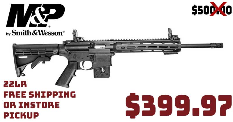 Smith & Wesson M&P15-22 Sport 22LR $399.97 INSTOCK FREE S&H