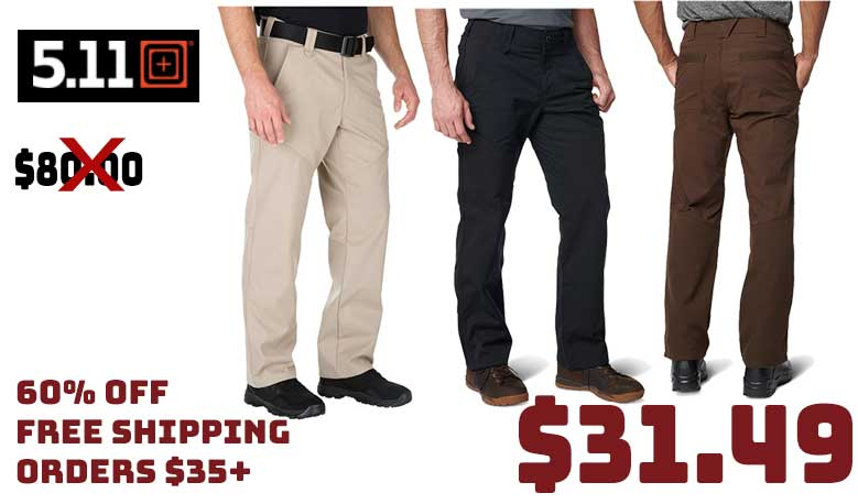 5.11 StoneCutter Pant Assorted Colors $31.49 60% OFF FREE S&H