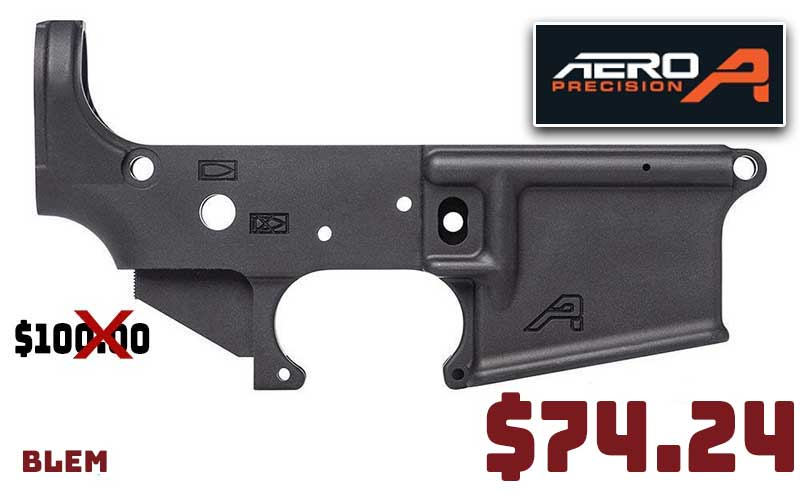 Aero Precision AR15 Stripped Lower Receivers BLEM $74.24 Limited Inventory