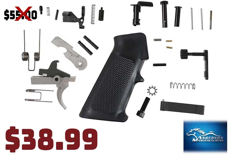 Anderson Mfg AR15 Parts Kit Stainless Hammer & Trigger …only $38.99