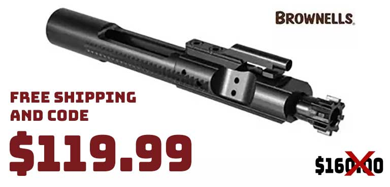 Brownells AR15 Bolt Carrier Group Nitride MP $119.99 FREE S&H CODE