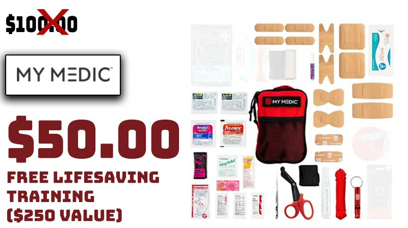 MyMedic Solo Advanced First Aid Kit 50% OFF FREE Training $50.00