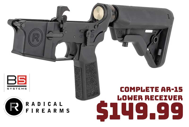 Radical Firearms Complete AR-15 Lower Receiver +B5 Systems Stock $149.99