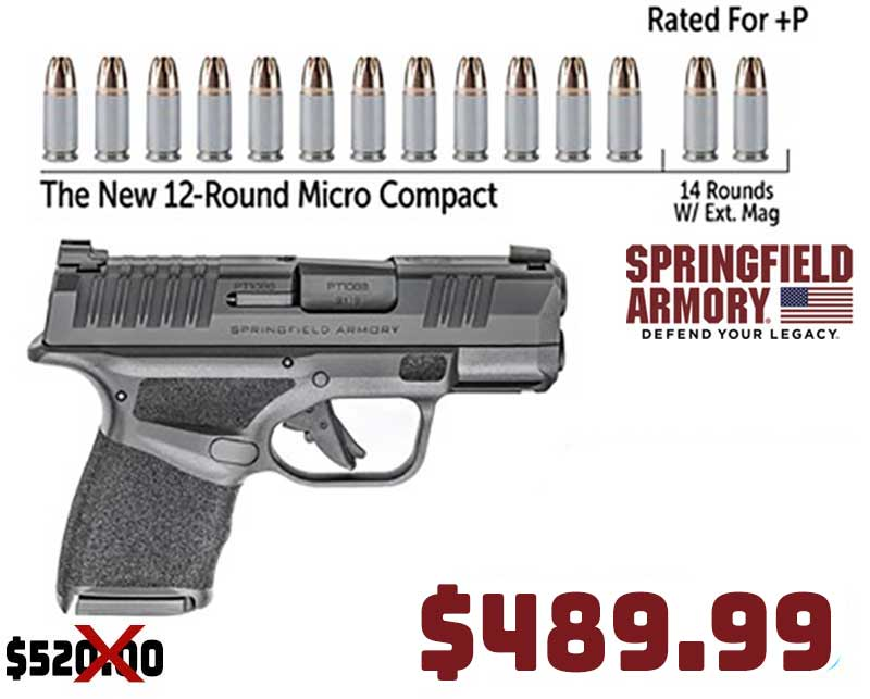 Springfield Armory Hellcat 9mm Micro Compact just… $489.99