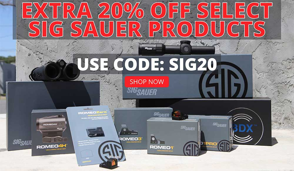 Take An Extra 20% Off Already-Discounted Sig Sauer, THIS IS CRAZY CHEAP!