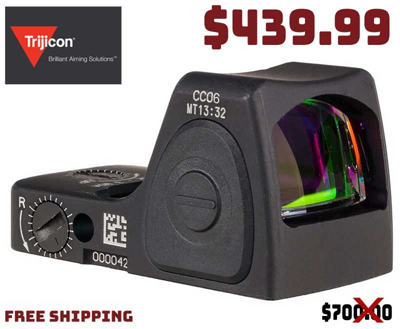 Trijicon RMRcc LED 3.25 MOA Red Dot & Mounting Plate $439.99 FREE S&H