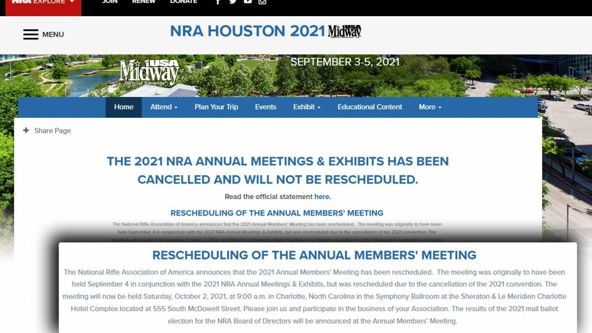 """NRA's Double-Super-Secret """"Rescheduled"""" Annual Meeting"""
