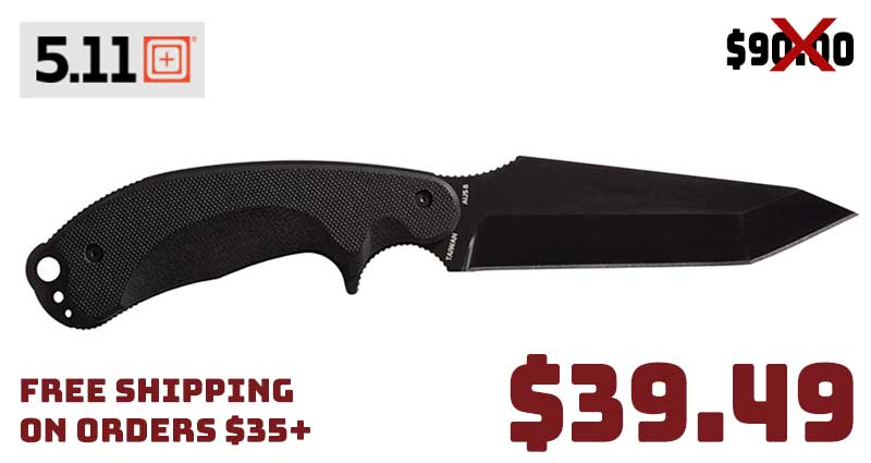 5.11 Tanto Surge Fixed Blade Knife $39.49 FREE S&H …56% OFF!