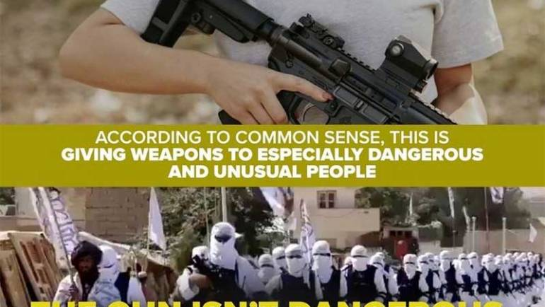 Biden Arms Taliban While Looking to Ban 40,000,000 Pistols from U.S. Gun Owners