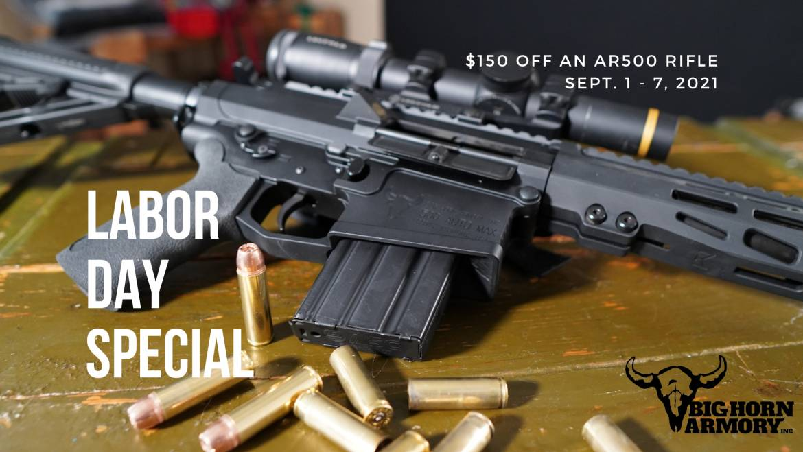 Big Horn Armory Launches Labor Day Special