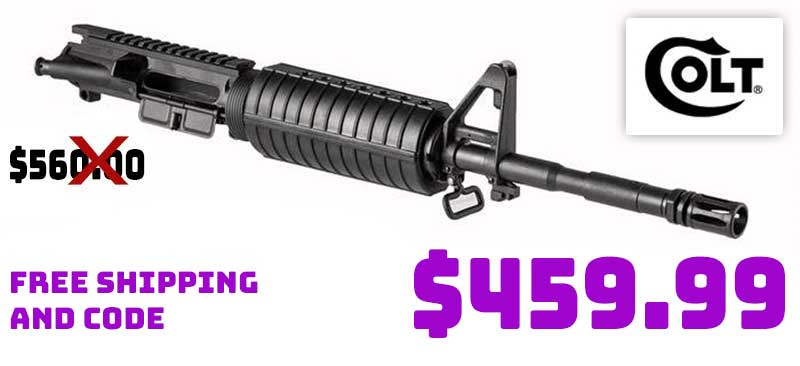 Colt M4 5.56 Upper Receiver Group 16.1in Stripped $459.99 FREE S&H CODE