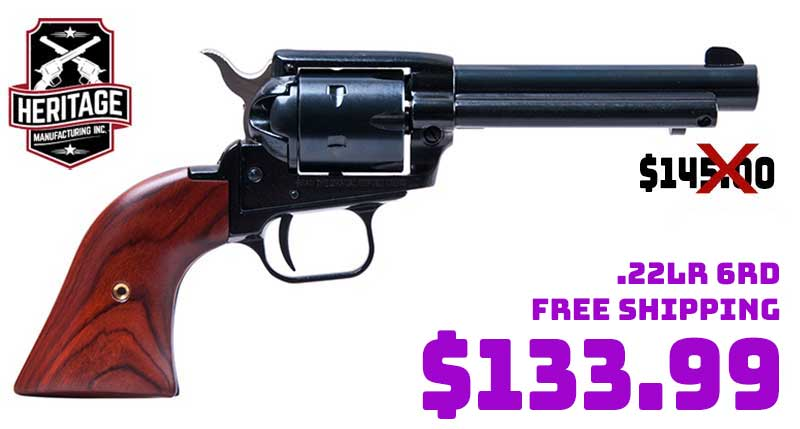 Heritage Arms 22LR Blue 6 Rds 4.75In Cocobo Revolver $133.99 FREE S&H