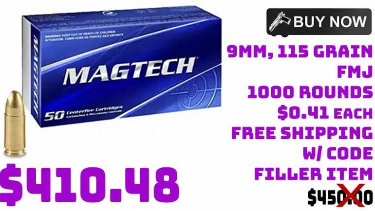 MAGTECH 9mm 115gr FMJ Ammo 1000 Rounds $410.48 FREE S&H CODE