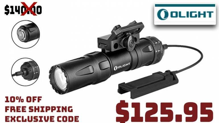 Olight Odin Mini Weapon Light $125.95 FREE Shipping Exclusive CODE