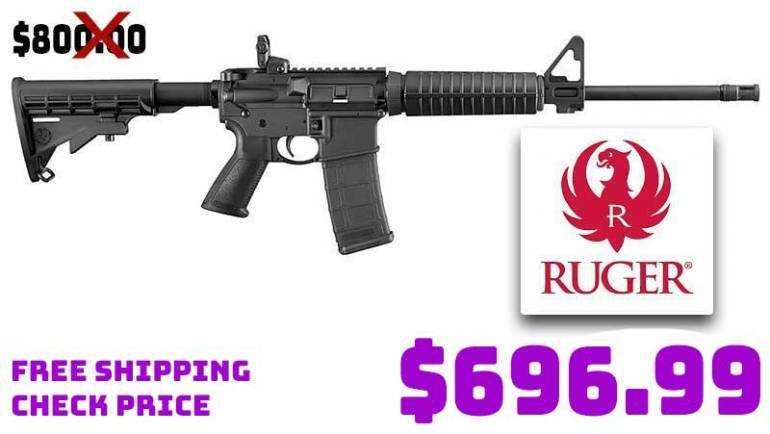 RUGER AR-556 223/5.56 16.1″ Rifle $696.99