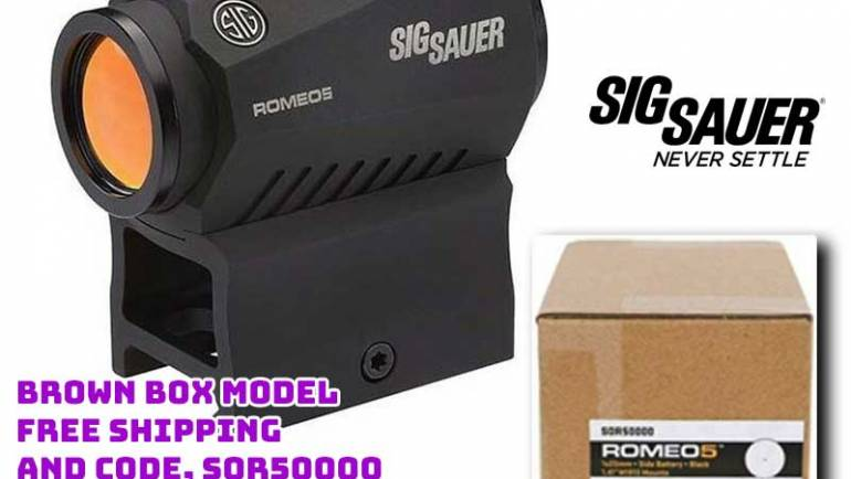Sig Sauer SOR50000 Romeo5 1X20mm Compact 2MOA Red Dot $100.00 FREES&H