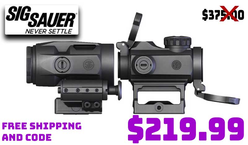 Sig Romeo MSR 1X20mm Red Dot & Juliet3 Micro Magnifier $219.99 FREES&H