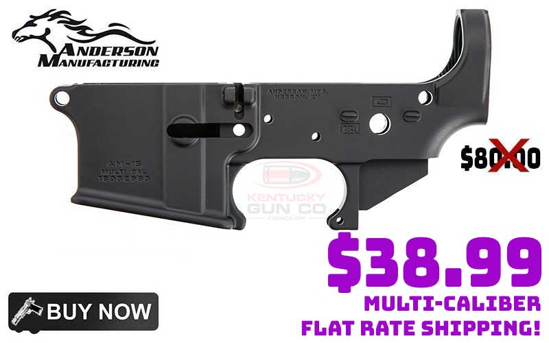 Anderson AM-15 No Logo AR15 Lower Receiver just…$38.99 Each