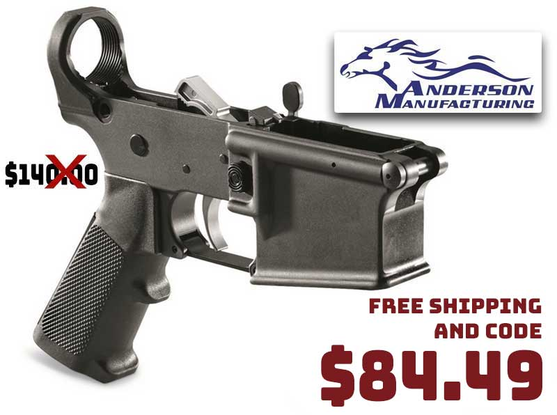 Anderson AR-15 Lower Receiver with Parts Kit Installed $84.49 FREE S&H