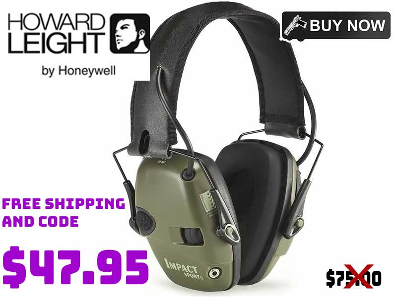 Howard Leight Electronic Hearing Protection $47.95 36+% OFF FREE S&H