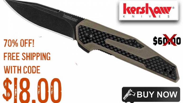 Kershaw Fraxion Drop Point Folding Knife just… $18.00 FREE S&H