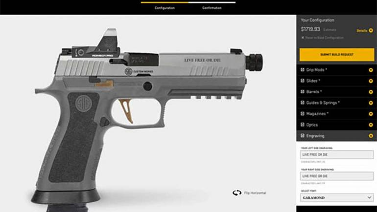 Design Your Own SIG P320 with SIG Custom Works Concierge Service