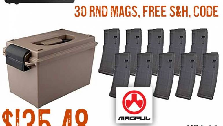 Tactical Mag Can & 10 Magpul PMAGS $135.48 FREE S&H CODE