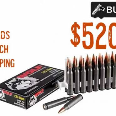 1000rnds Wolf, .223 Rem, 55 Grain, FMJ Ammo, $520.48 FREE S&H CODE